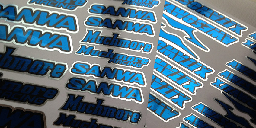 Metallic RC Stickers