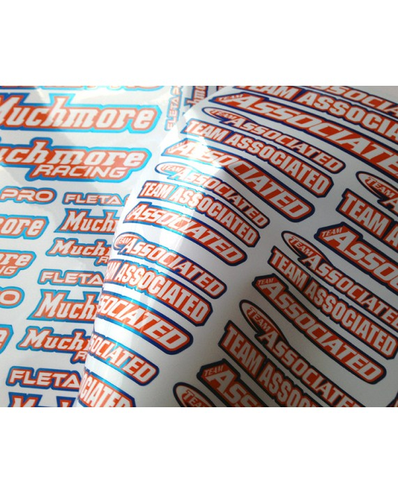 Chrome SPONSOR  STICKERS - Multi Logo