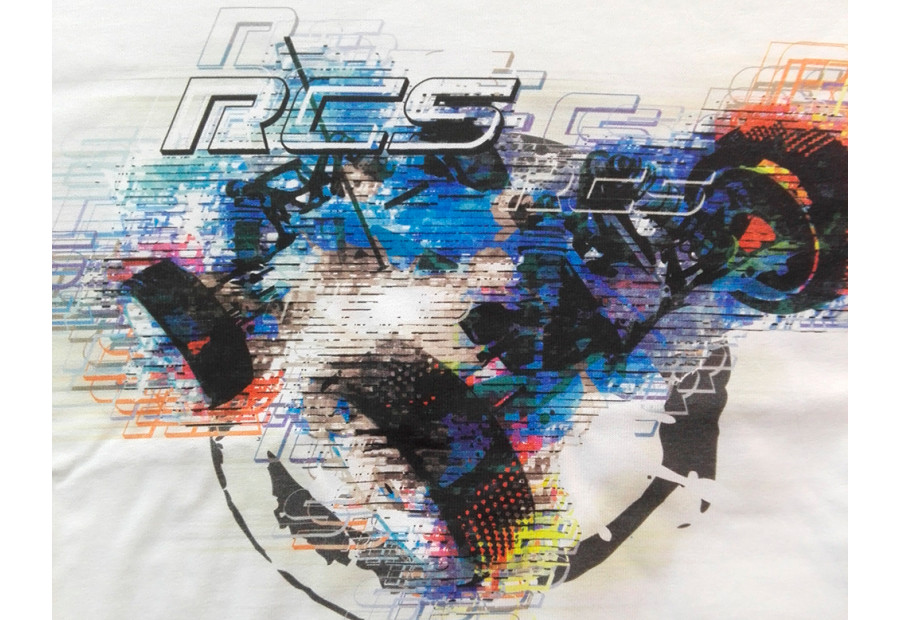 Limited Edition RC Tee - Trace Multi White