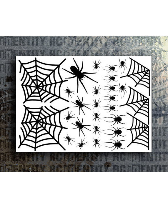 Paint mask stencil - Spiderz