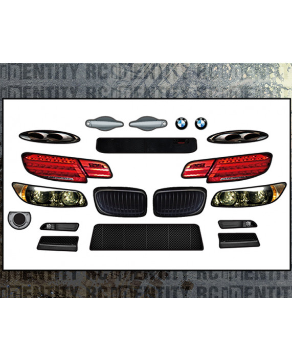 Headlight Stickers - MCD BMW GT2 / Art Car