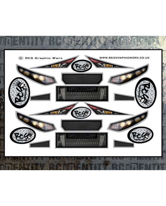 Headlight Stickers - 1/10 Touring Car Set1