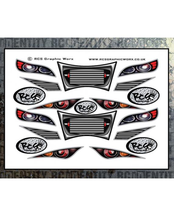 Headlight Stickers - 1/10 Touring Car Set 2
